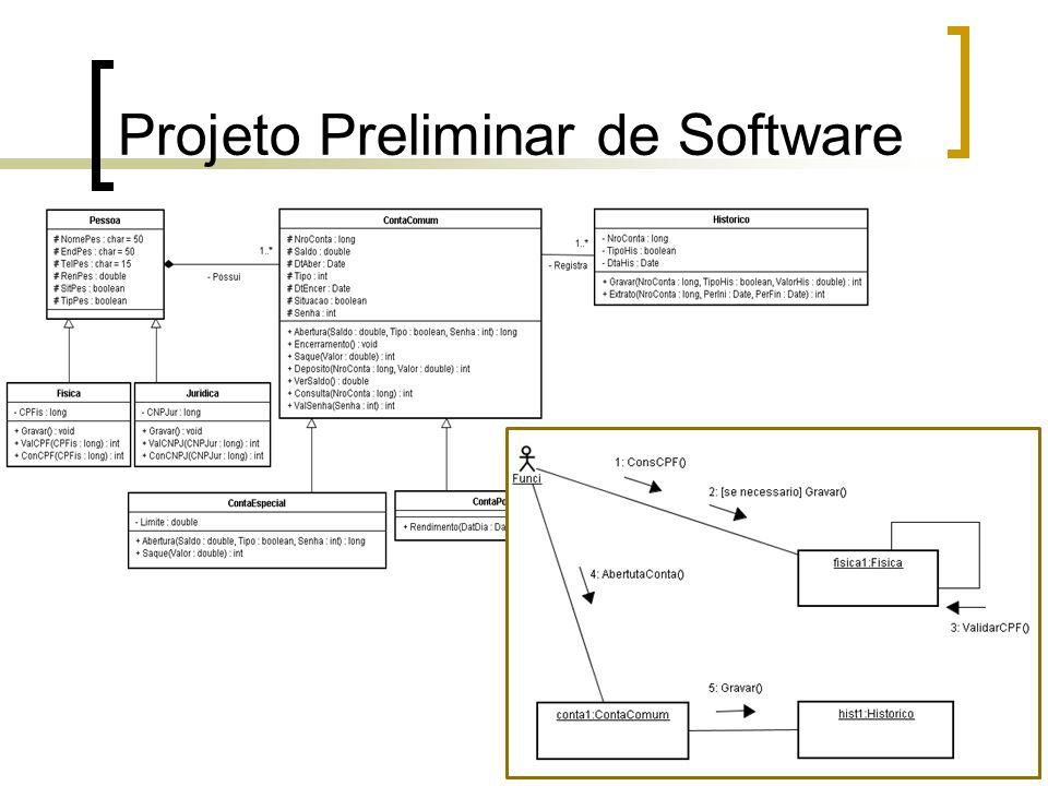 Projeto Preliminar de Software