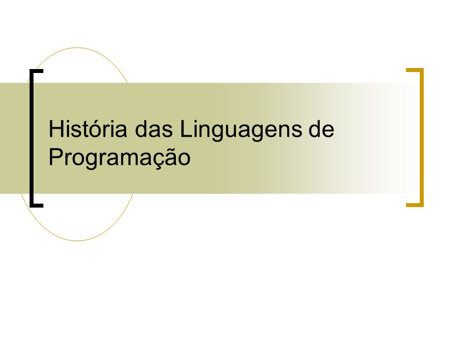 História das Linguagens de Programação