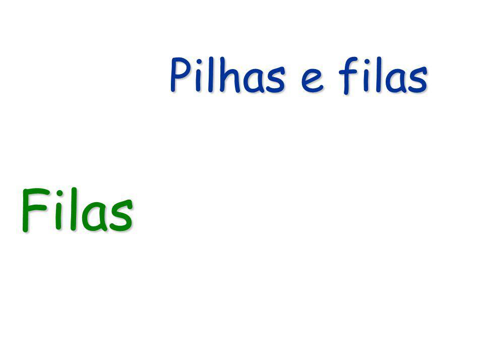 Algoritmo: Fila Cria_fila(void) Algoritmo: Criar Fila com alocação estática Fila Cria_fila(void) Fila Cria_fila(void) { Fila Ptf; Ptf = (Fila) malloc(sizeof(struct queue)); if (Ptf != NULL) { Ptf->IF = 0; Ptf->FF = 0; } return Ptf; }