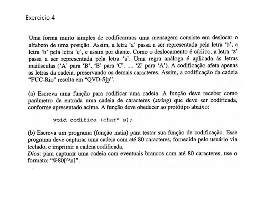 void codifica(char *str) { int i, d; for(i=0; str[i]!= \0 ;i++) { d = Z - A ; if ((str[i] >= a && str[i] < z ) || (str[i] >= A && str[i] < Z )) str[i]++; else if (str[i] == Z || str[i] == z ) str[i]=str[i]-d; }