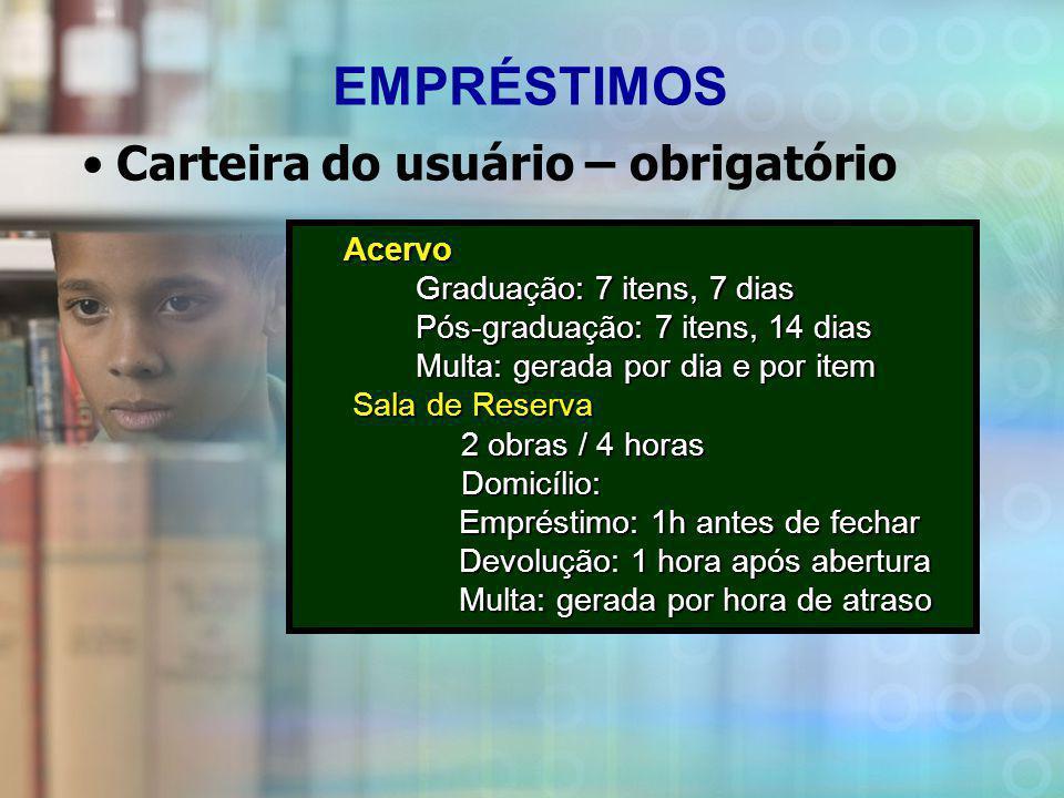 RENOVAÇÃO E RESERVA Somente pela Internet (www.bibliotecas.ufu.br)