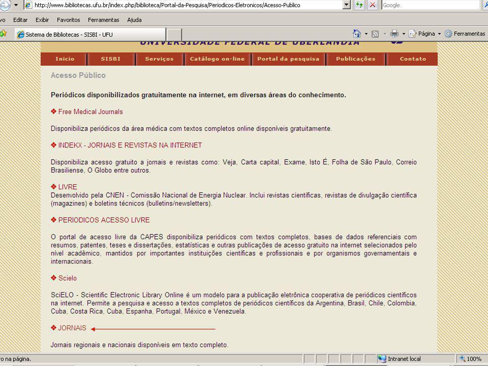 Sistema de Bibliotecas da UFU Diário Oficial de Minas Gerais