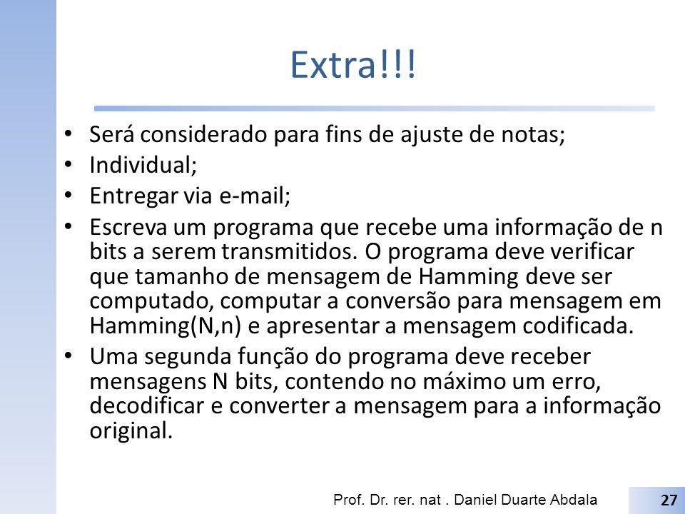ParityGen – VHDL Prof. Dr. rer. nat. Daniel Duarte Abdala 28