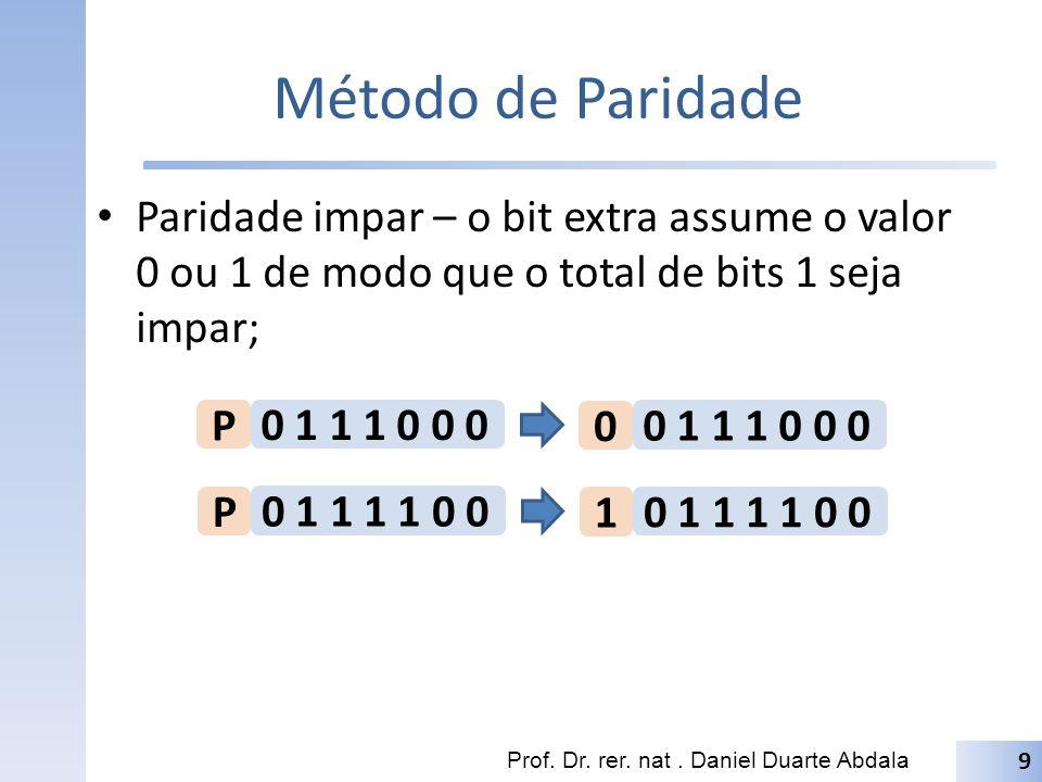 Exemplo Deseja-se transmitir a mensagem ´Gol do Verdao representada em ASCII de um computador A para outro B.