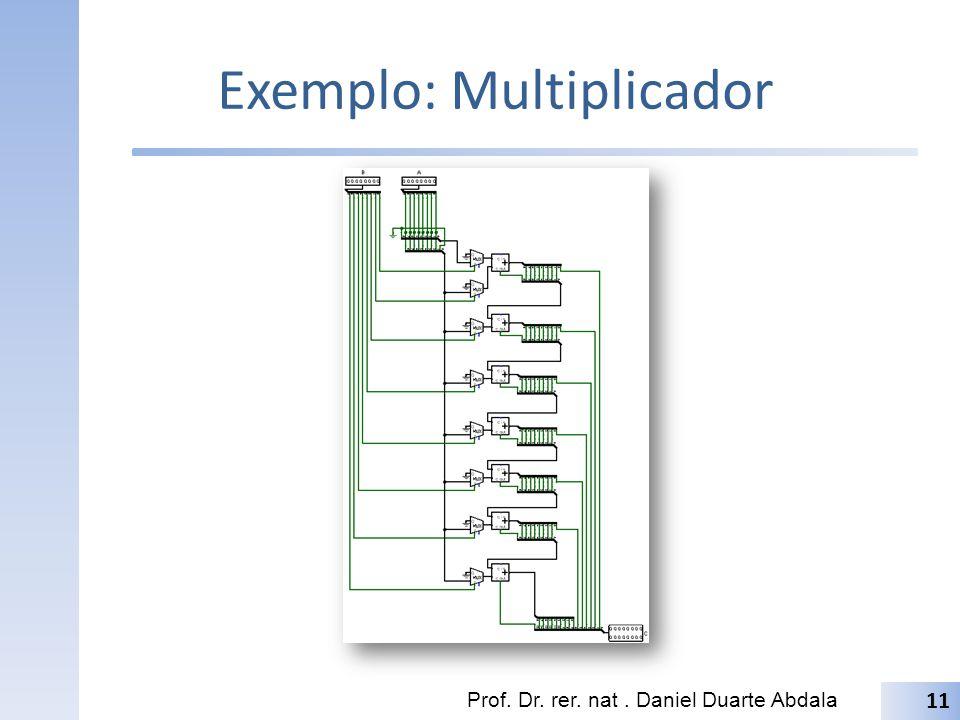 Exemplo: Multiplicador Prof. Dr. rer. nat. Daniel Duarte Abdala 11