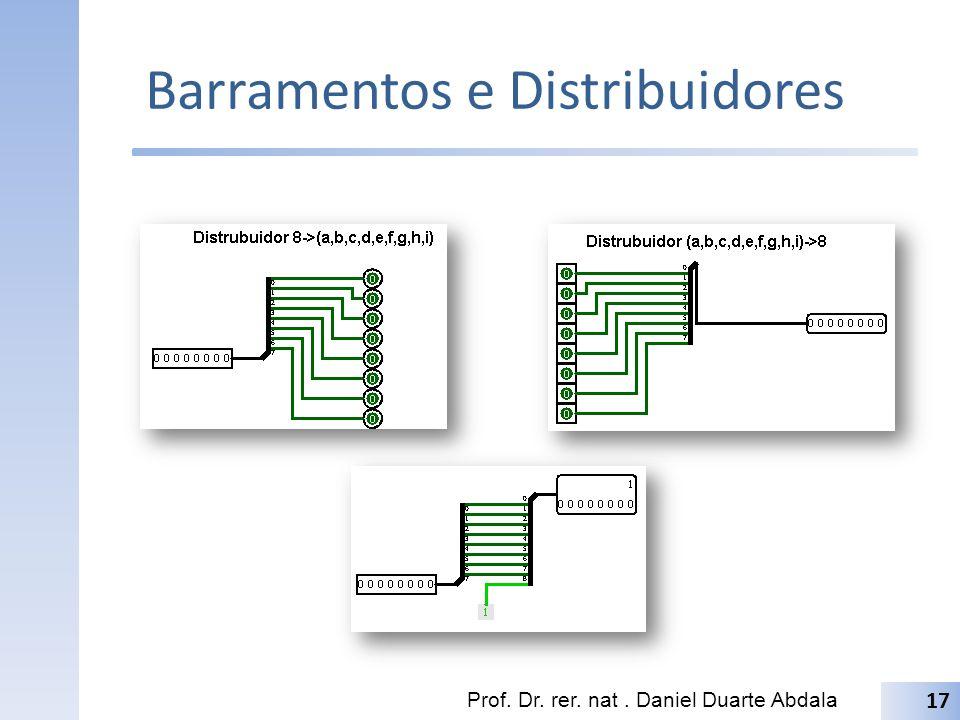 Barramentos e Distribuidores Prof. Dr. rer. nat. Daniel Duarte Abdala 17