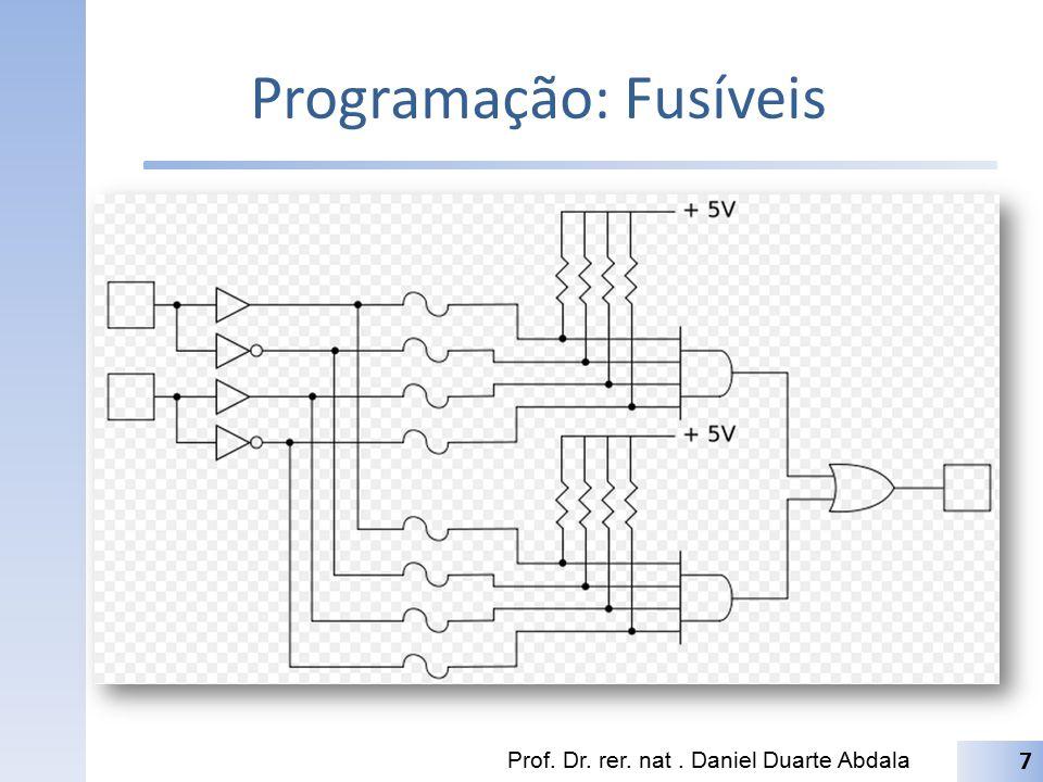 Programação: Fusíveis Prof. Dr. rer. nat. Daniel Duarte Abdala 7