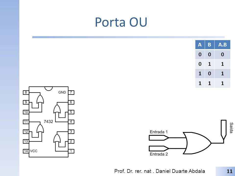 Porta OU Prof. Dr. rer. nat. Daniel Duarte Abdala 11 ABA.B 000 011 101 111