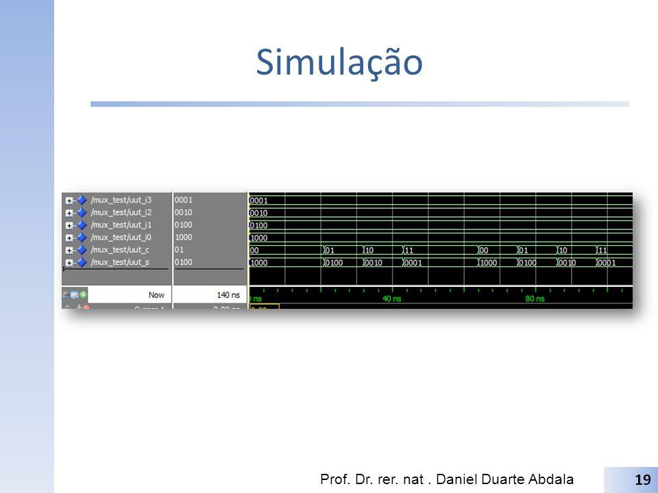 Simulação Prof. Dr. rer. nat. Daniel Duarte Abdala 19