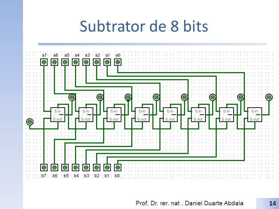Subtrator de 8 bits Prof. Dr. rer. nat. Daniel Duarte Abdala 14