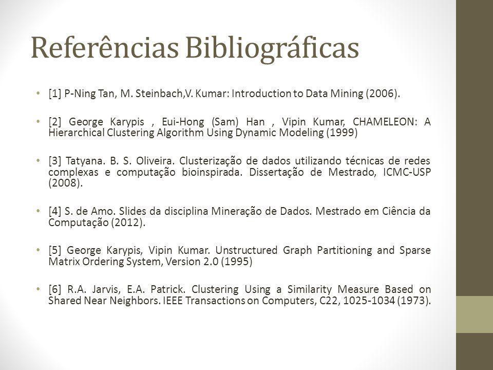 Referências Bibliográficas [1] P-Ning Tan, M.Steinbach,V.
