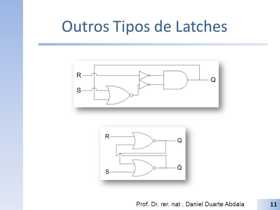 Outros Tipos de Latches Prof. Dr. rer. nat. Daniel Duarte Abdala 11