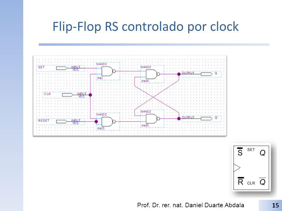 Flip-Flop RS controlado por clock Prof. Dr. rer. nat. Daniel Duarte Abdala 15