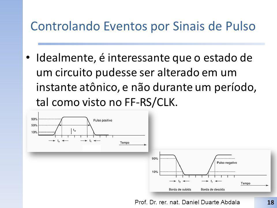 Controlando Eventos por Sinais de Pulso Idealmente, é interessante que o estado de um circuito pudesse ser alterado em um instante atônico, e não dura