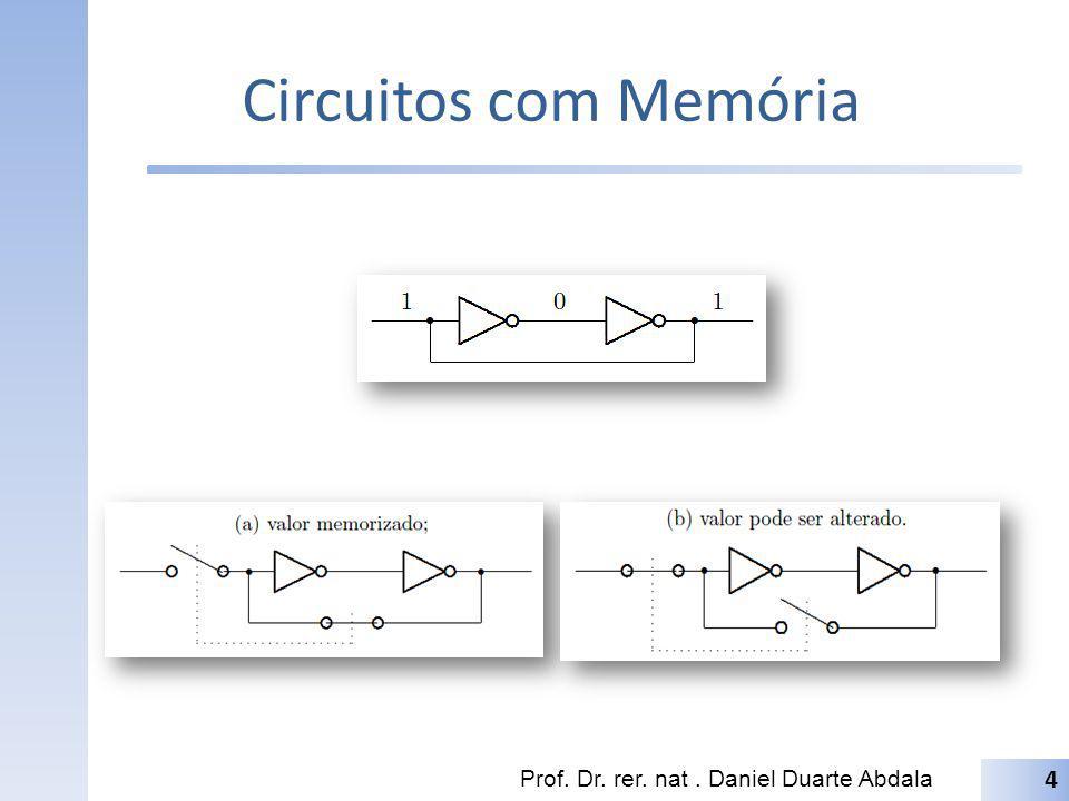 Circuitos com Memória Prof. Dr. rer. nat. Daniel Duarte Abdala 4