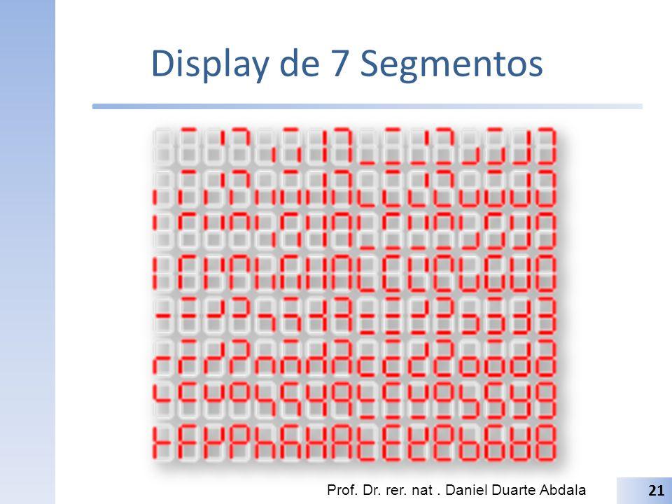 Display de 7 Segmentos Prof. Dr. rer. nat. Daniel Duarte Abdala 21