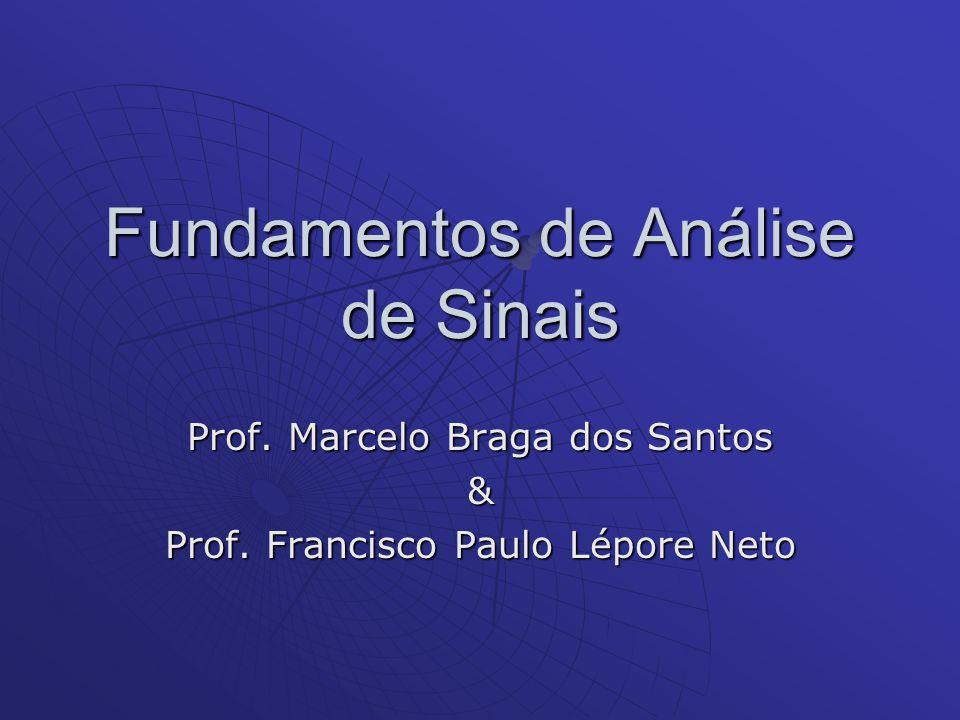 Programa do Curso A.Descrições básicas e propriedades de sinais (02 teóricas) B.