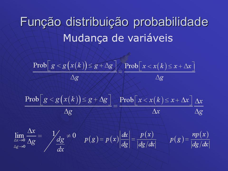 Função distribuição probabilidade Mudança de variáveis