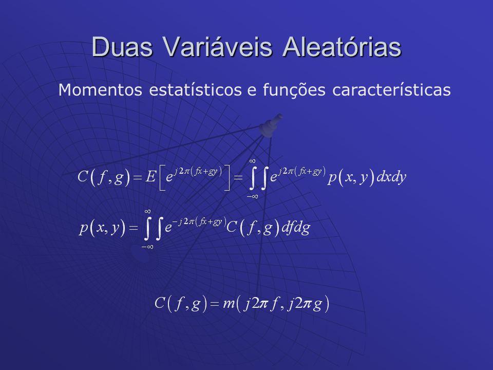 Duas Variáveis Aleatórias Momentos estatísticos e funções características