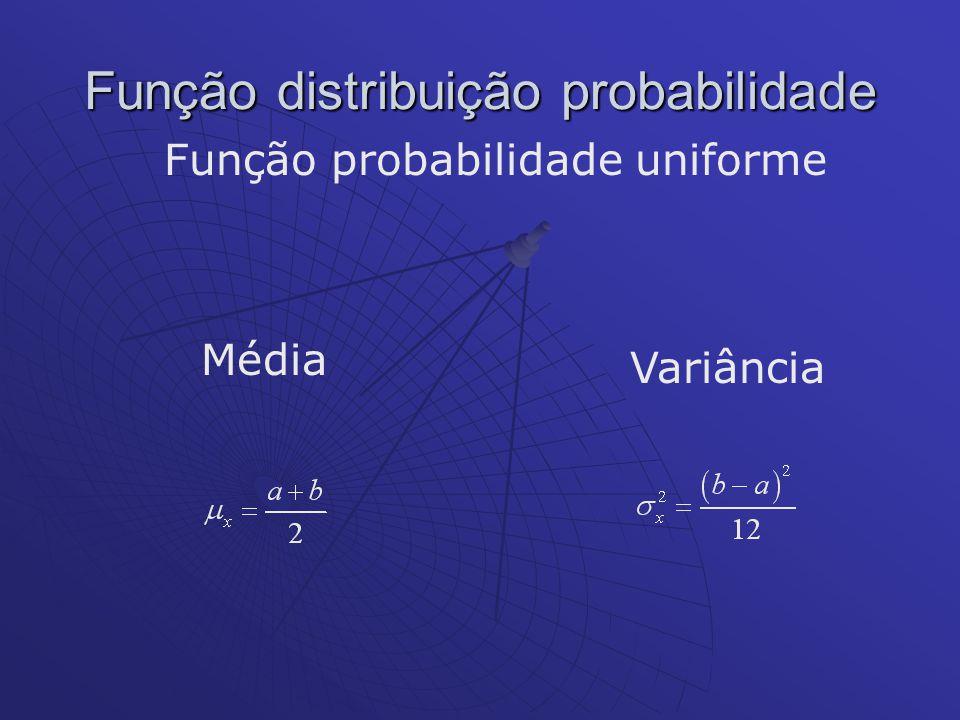 Função distribuição probabilidade Função probabilidade uniforme Média Variância