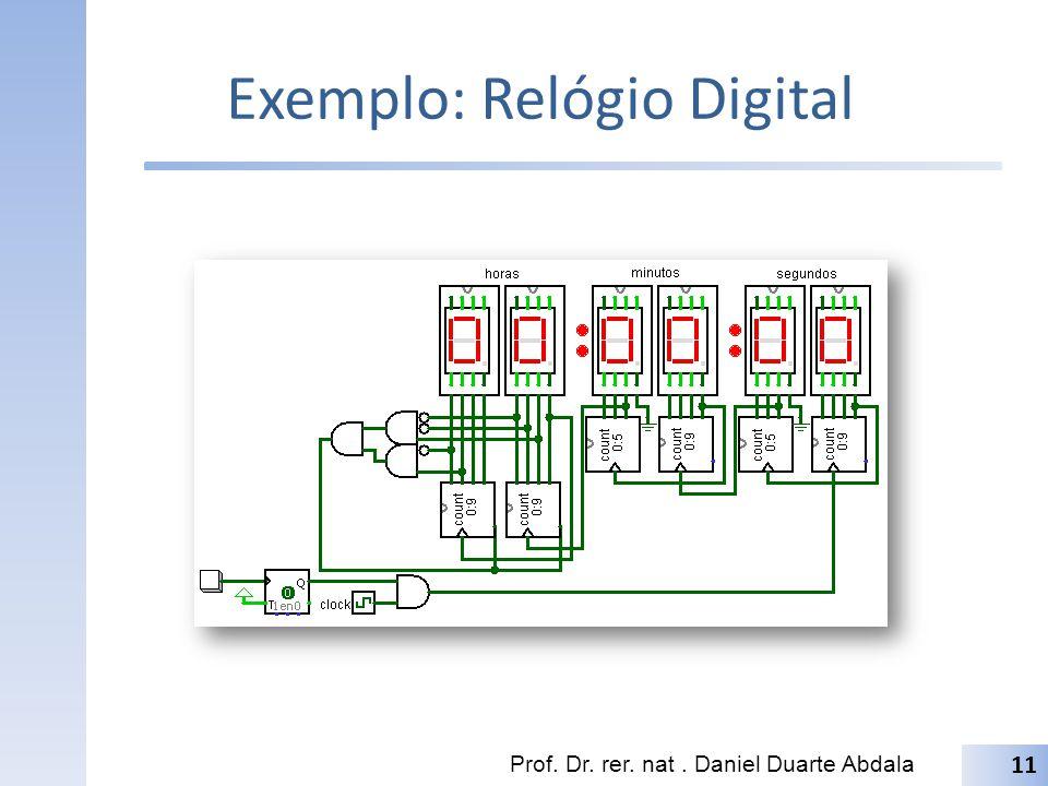 Exemplo: Relógio Digital Prof. Dr. rer. nat. Daniel Duarte Abdala 11
