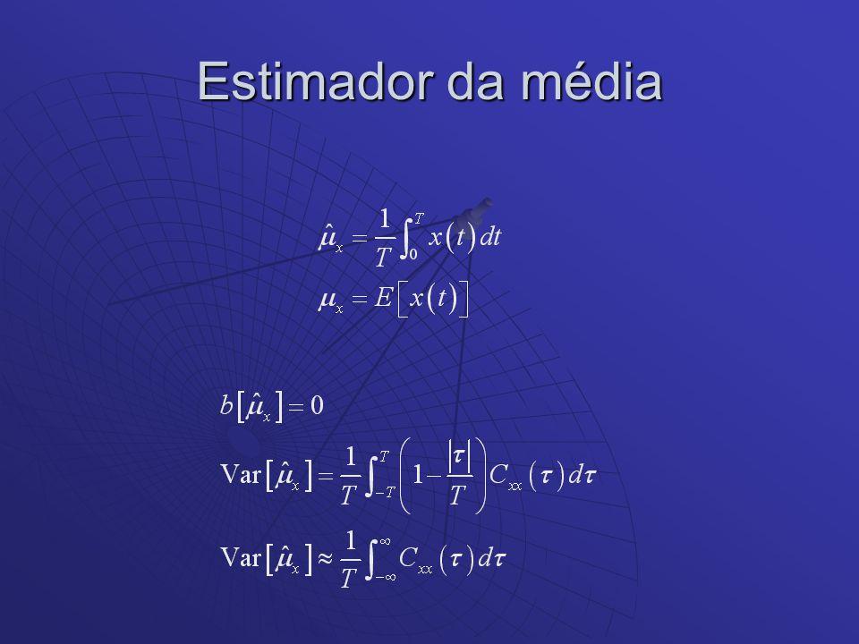 Estimador das Funções Correlações Simplificando-se para se evitar o uso da função módulo pode-se utilizar: