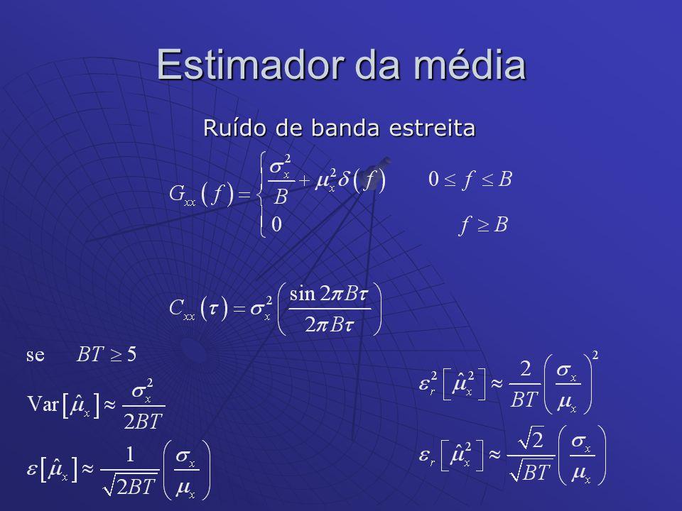 Estimador das Funções Correlações Este estimador não possui erro sistemático.