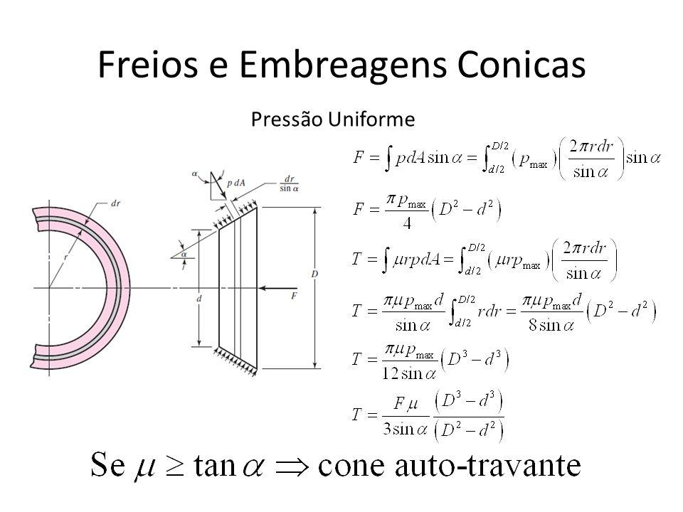 Freios e Embreagens Conicas Pressão Uniforme