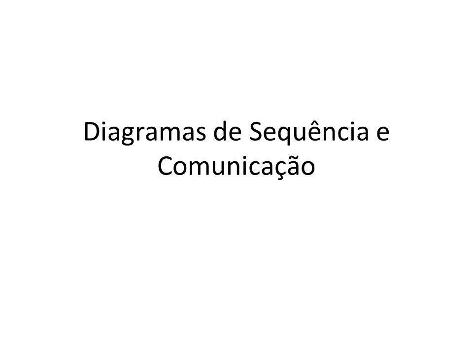 Diagramas de Sequência e Comunicação