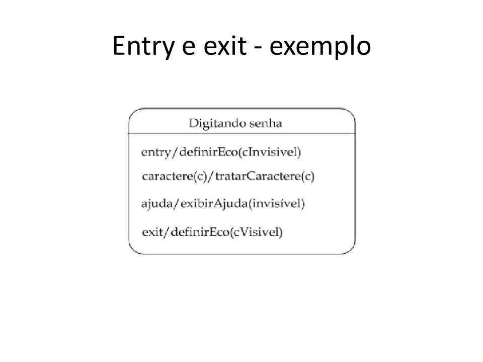 Entry e exit - exemplo