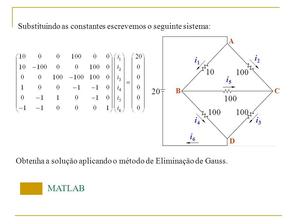 Problema 3 Numa treliça estaticamente determinada com juntas articuladas, a tensão em cada componente da treliça pode ser obtida da seguinte forma: Nó A: Nó C: 1000kgf A y x C y x A BC F1F1 F3F3 F2F2 F1F1 F3F3 F2F2 F3F3