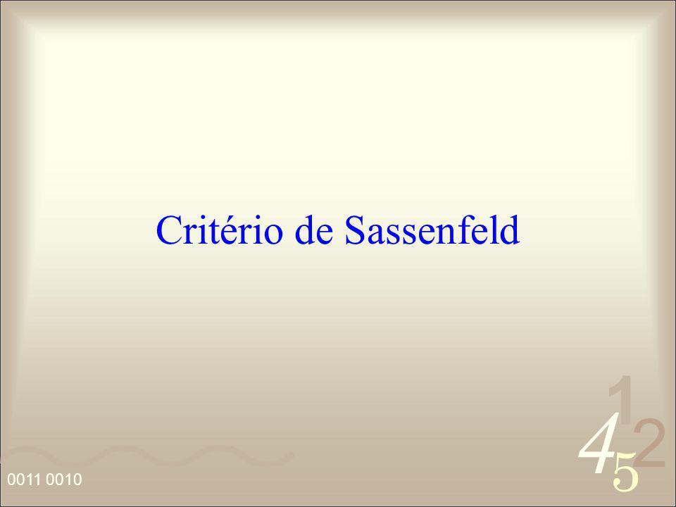 4 2 5 1 Critério de Sassenfeld