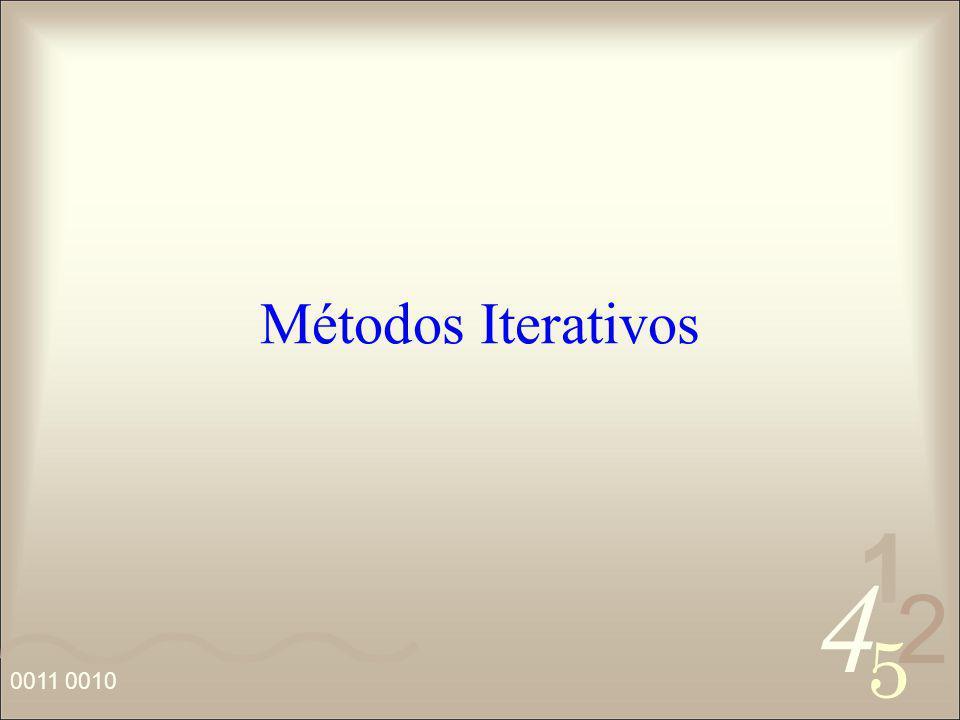 4 2 5 1 0011 0010 Métodos Iterativos