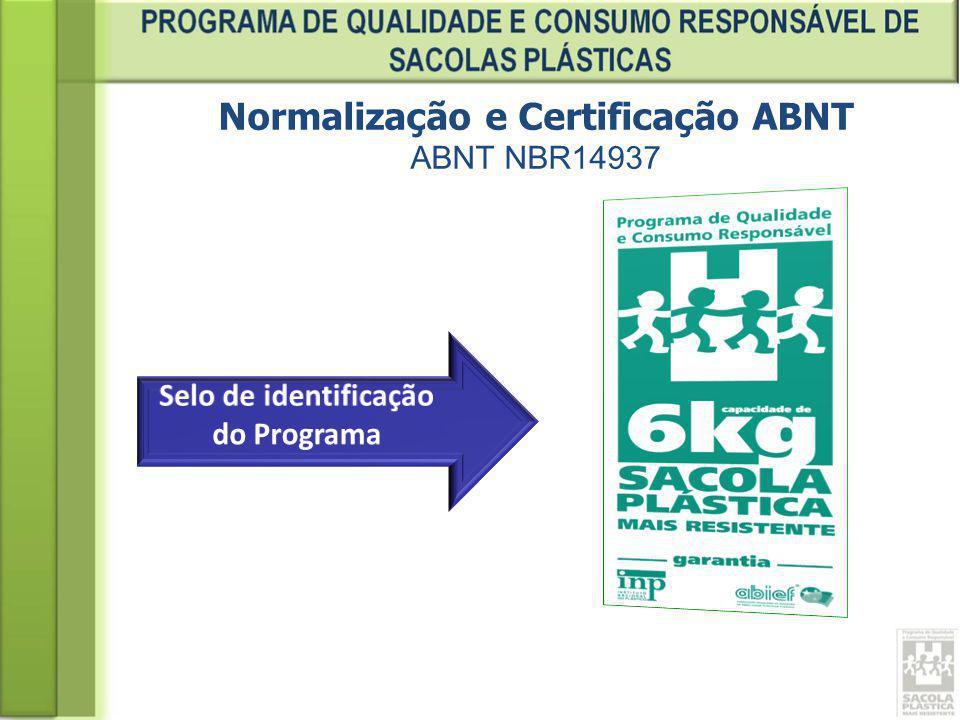 Normalização e Certificação ABNT ABNT NBR14937