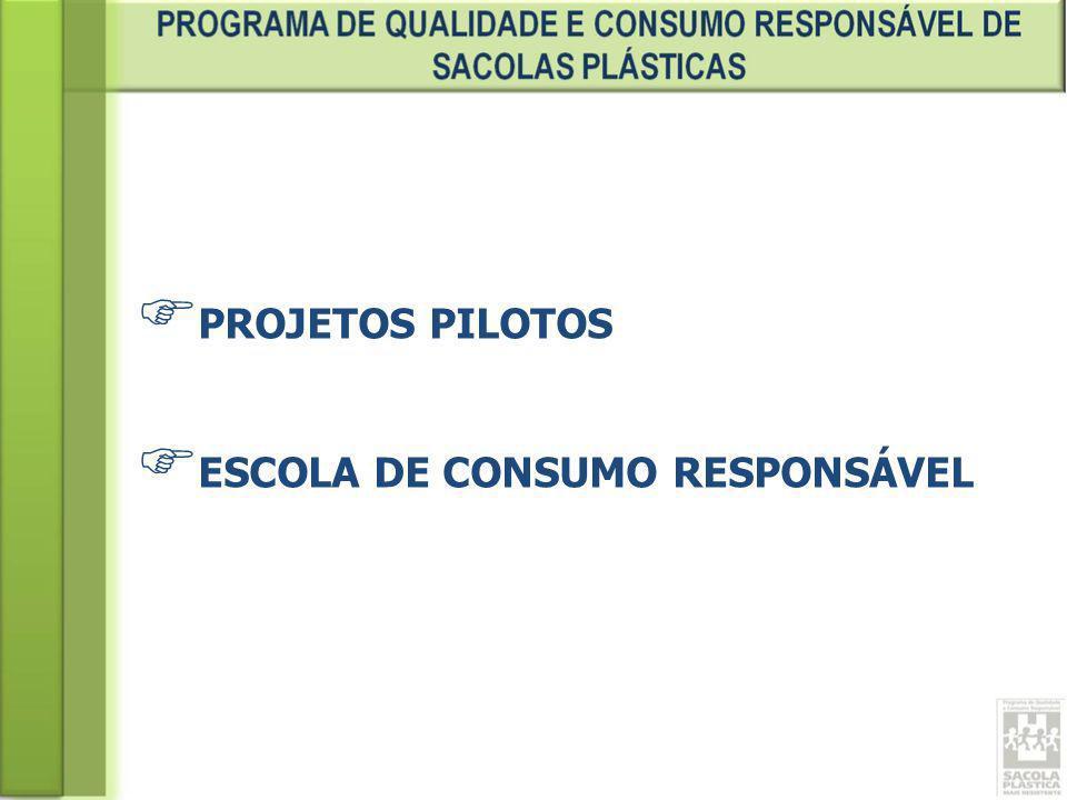 PROJETOS PILOTOS ESCOLA DE CONSUMO RESPONSÁVEL