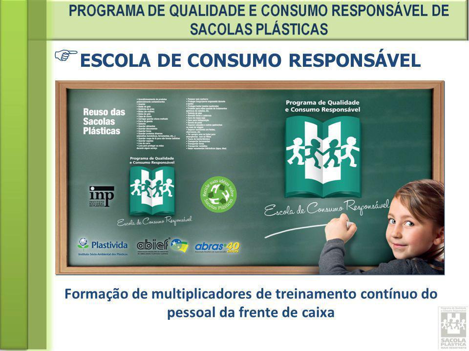 ESCOLA DE CONSUMO RESPONSÁVEL Formação de multiplicadores de treinamento contínuo do pessoal da frente de caixa