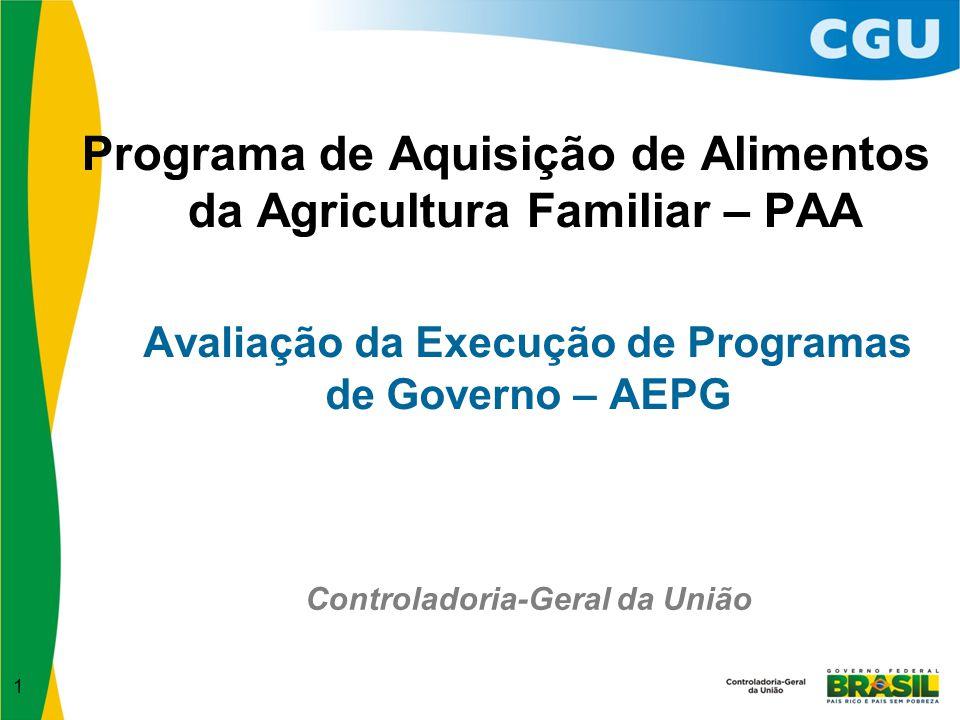 2 Programa Temático 2069 – Segurança Alimentar e Nutricional.