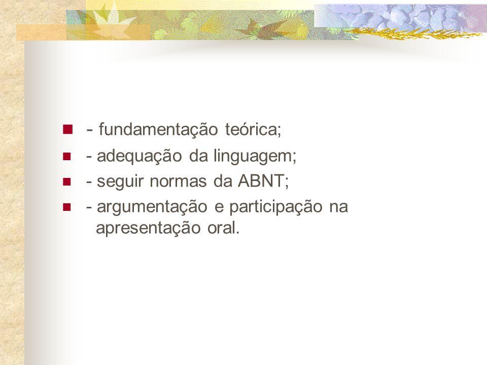 APRESENTAÇÃO GRÁFICA Formato - Papel branco A-4 - Digitação no anverso (frente) da folha (exceto folha de rosto, que também utiliza o verso) - Uso da fonte tamanho 12 para o texto e tamanho 10 para citações longas e notas de rodapé.