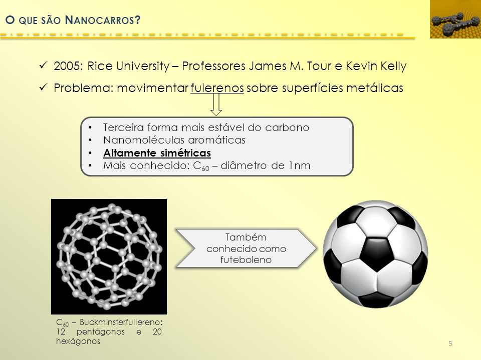O QUE SÃO N ANOCARROS .2005: Rice University – Professores James M.