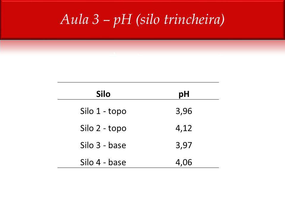 SilopH Silo 1 - topo3,96 Silo 2 - topo4,12 Silo 3 - base3,97 Silo 4 - base4,06