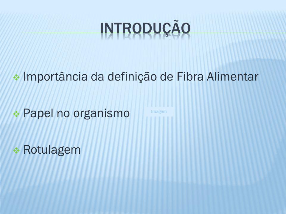 Importância da definição de Fibra Alimentar Papel no organismo Rotulagem Imagem