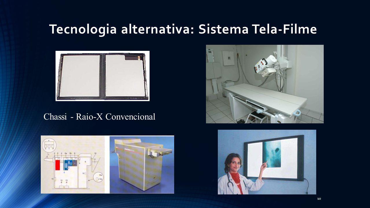 Sistema Tela-Filme Tecnologia alternativa: Sistema Tela-Filme 10 Chassi - Raio-X Convencional