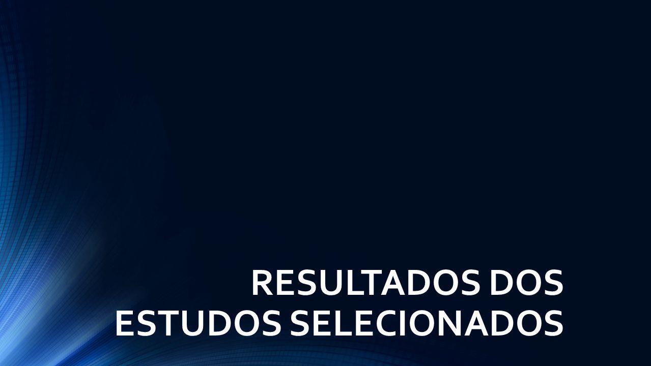 RESULTADOS DOS ESTUDOS SELECIONADOS