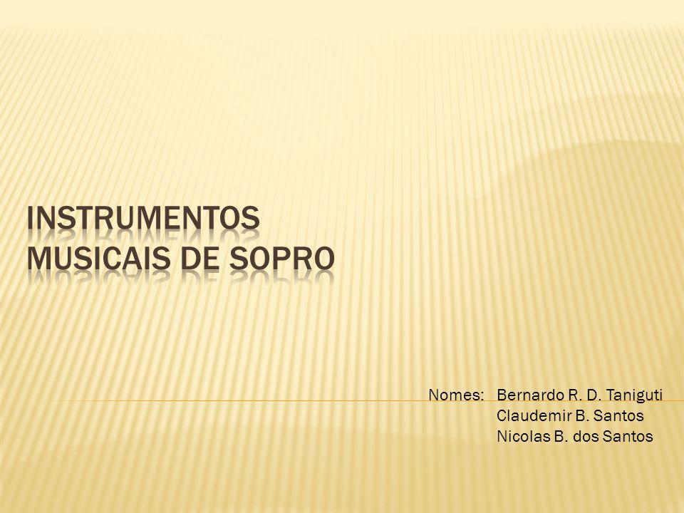 Nomes:Bernardo R. D. Taniguti Claudemir B. Santos Nicolas B. dos Santos