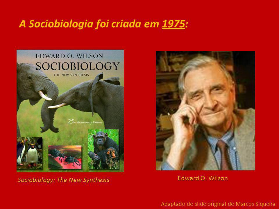 Sociobiology: The New Synthesis Edward O.