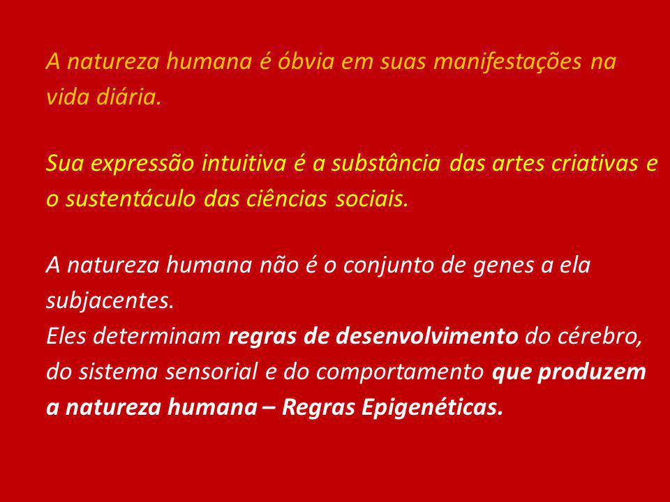 A natureza humana é óbvia em suas manifestações na vida diária. Sua expressão intuitiva é a substância das artes criativas e o sustentáculo das ciênci