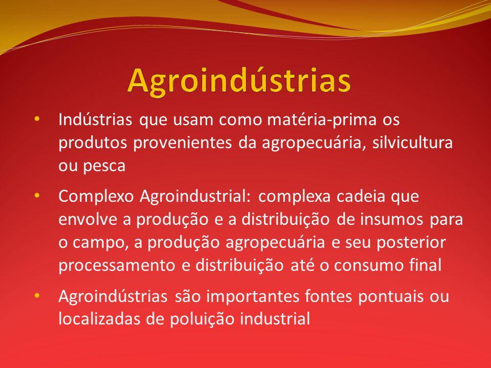 Indústrias que usam como matéria-prima os produtos provenientes da agropecuária, silvicultura ou pesca Complexo Agroindustrial: complexa cadeia que en