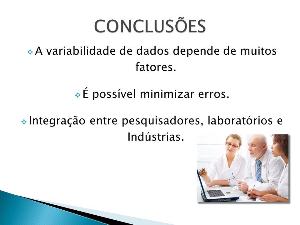 A variabilidade de dados depende de muitos fatores.