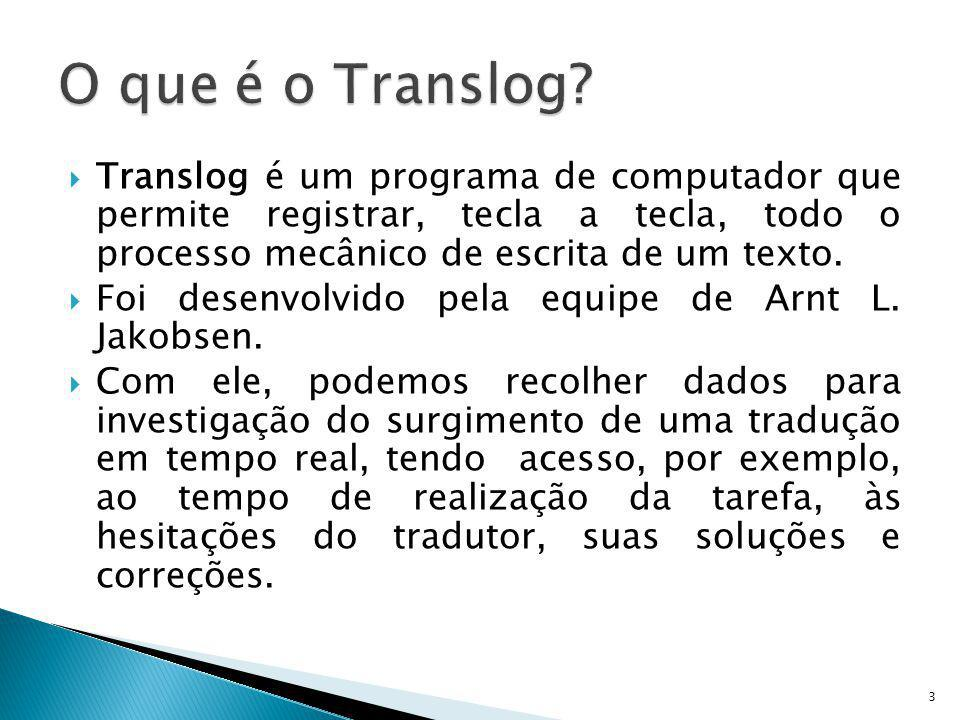 Translog é um programa de computador que permite registrar, tecla a tecla, todo o processo mecânico de escrita de um texto. Foi desenvolvido pela equi