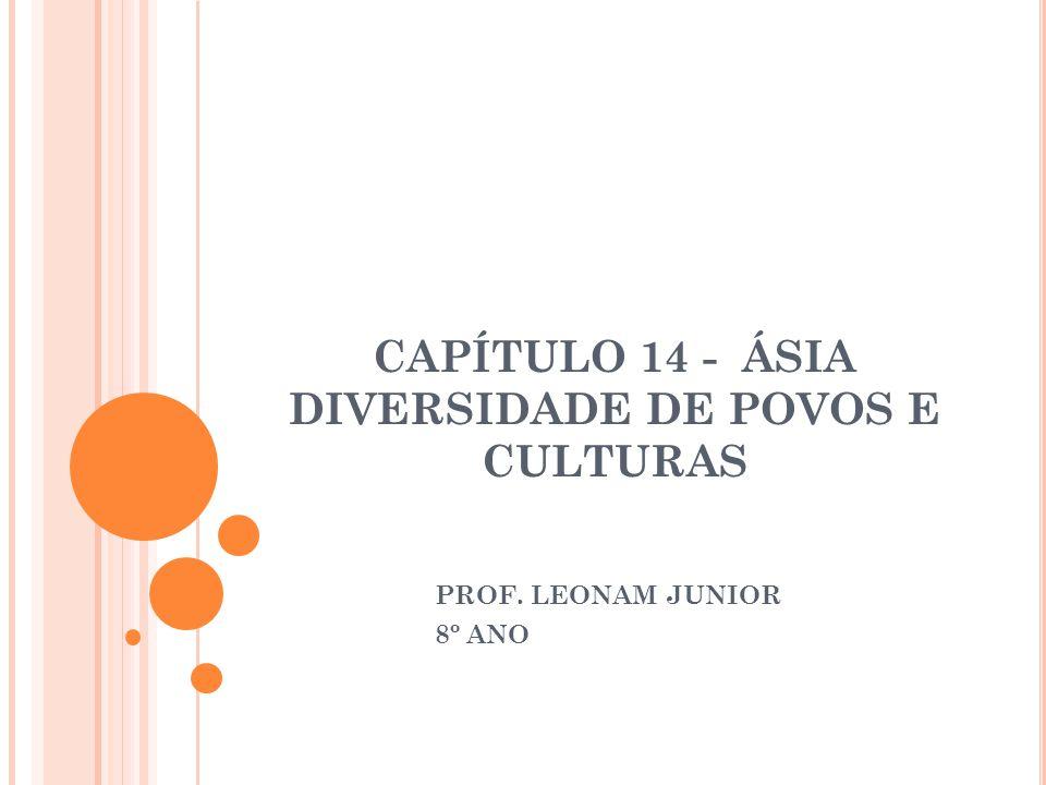 CAPÍTULO 14 - ÁSIA DIVERSIDADE DE POVOS E CULTURAS PROF. LEONAM JUNIOR 8º ANO